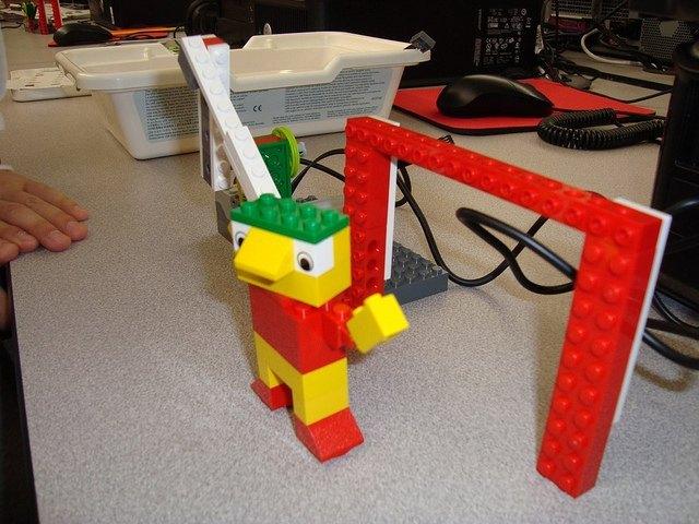 Ejemplo de construcción con Lego WeDo (Fotografía de Brad Flickinger)