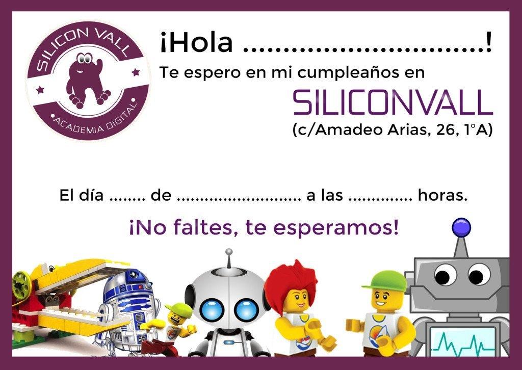 invitacion cumpleaños tecnologico